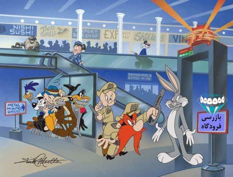 ارتودنسی فرودگاه و شخصیت های کارتون