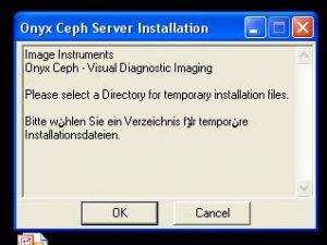 مراحل نصب نرم افزار سفالومتری اونیکس